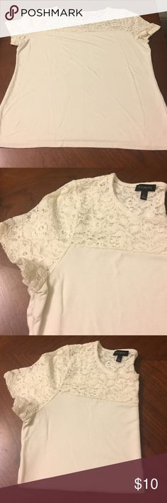 Talbots cream top Cream too. So soft. Material details on last photo. Great preloved condition. Great to pair with jeans or a pencil skirt and blazer for casual work wear Talbots Tops