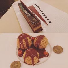 Dreamy desserts! One of the best profiteroles I have ever had --chocolate hazelnut! Dinner at the palm court  #thelangham #langham #langhamhotel #langhamlondon #london #londonpop #londonlife #londonhotels #luxury #luxuryhotel #luxurylife #luxuryliving #luxurylifestyles #palmcourt #palmcourtlangham #restaurantlondon #londonrestaurants #londonrestaurant #toplondonrestaurants #toprestaurant #finedining #finedine #yum #yummy #londondining #profiteroles #pudding #desserts by alexkatsuralondon