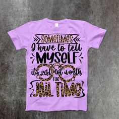 Jail Time T-Shirt - Medium / Lavender