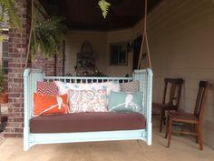 Crib to porch swing!