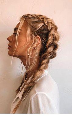 French Braid Hairstyles, Box Braids Hairstyles, Hairstyle Ideas, School Hairstyles, Wedding Hairstyles, Cute Messy Hairstyles, Glam Hairstyles, Hairstyle Braid, Hairstyle Tutorials