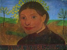 :: Paula Modersohn-Becker, 'Self Portrait', 1902 [#06]