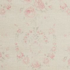Gorgeous French style romantic print in faded shades.