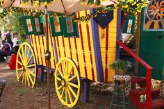 Gypsy Wagon.  I would love to have this as a Potting Shed, but the way the economy is going, may need it to live in!