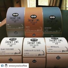 """So happy to be a part of the Snowy Owl Coffee Roasters """"team""""! Love your labels! Repost @snowyowlcoffee with @repostapp.  Pretty stoked with how these labels from @frontierlabel came out. Also we're super grateful  to @sarahwormannart for the original beautiful drawing of the Cape Cod map. Stay tuned for more of her beautiful work in our space. Enjoy the sneak peak of our signature blends and single origins  #socoffeeroasters #snowyowlcoffee #snowyowlcapecod #socoffee #almostthere"""