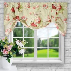 Ellis Curtain Sanctuary Rose 21 X 50 Inch Lined Tie Up Valance 730462123169 Rose Curtains, Tier Curtains, Window Curtains, Nursery Curtains, Crochet Curtains, Floral Curtains, Bathroom Curtains, Shower Curtains, Tie Up Valance