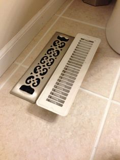 Looking for an easy home improvement project? Replace the heat register covers