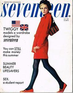 Seventeen Magazine  July 1967  Twiggy  Mod  by MyVintageKazinka
