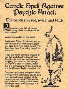 Candle spell against psychic attacks