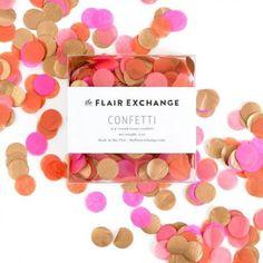 Confettis rose vif, orange , corail et rose cuivré