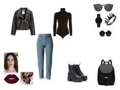 """black queen"" by jossistrijtveen on Polyvore featuring mode, Wolford, H&M, Illesteva en CLUSE"