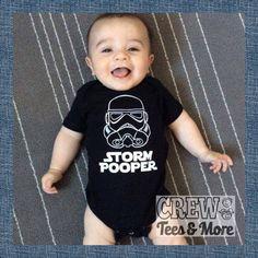Star Wars Storm Trooper Pooper le Dark Side bébé grenouillère