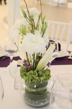 Centro de mesa #Boda #Flores www.pavorealdelrincon.com.mx