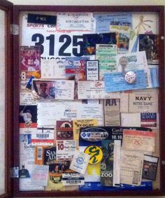 What to do with all of your old ticket stubs- put them on display!