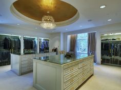 Forget a walk-in closet. Here's a full room closet.