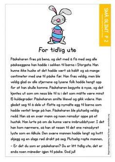 Å lære norsk Grade 1, Second Grade, Danish Language, Norway Language, Crafts For Kids, Singing, Education, Reading, School