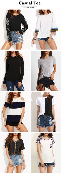 Hit flattering autumn at shein.com! Up to 70% off & more casual top for fashion!