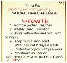4 month hair challenge
