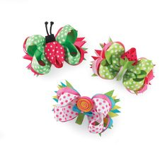Strawberry or Ladybug 3 in 1 Hair Bow
