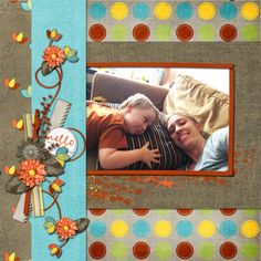 Hello September by #NibblesSkribbles Hello September features fall tones, in brighter hues. Aqua and green come out with pops of orange, red and yellow. #thestudio #digitalscrapbooking