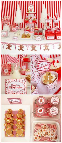 Mesa dulces navidad-blanco y rojo-candy bar navidad