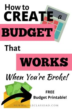 Learning how to budget when you are broke isn't hard. But when money is tight and you're behind on bills the most important thing to do first is . Making A Budget, Create A Budget, Money Tips, Money Saving Tips, Money Hacks, Budgeting Finances, Budgeting Tips, Monthly Budget Spreadsheet, Budget Envelopes