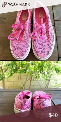 VANS Limited Edition Hello Kitty Shoes These are authentic limited edition  Hello Kitty shoes. Super 280dc16ba