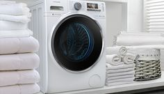 Discover washing made simple with Samsung washing machines. View the latest features and innovations available to find the perfect washing machine for you. Samsung Washing Machine, Stacked Washer Dryer, Home And Living, Galaxy Note, Laundry, Home Appliances, Bedding, Cleaning, Graphic Design