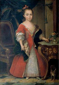Retrato da Infanta D. Maria Francisca Isabel Josefa - Maria I de Portugal 1739, Francesco Pavono