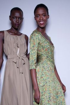 Costello Tagliapietra, Spring 2013 #nyfw #backstage ... Beige ... so practical and so summery