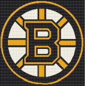 $5 - Boston Bruins - NHL Hockey - Crochet Graphghan Afghan Blanket Pattern