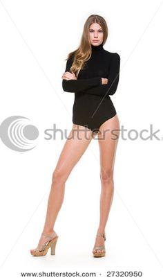 woman standing in heels
