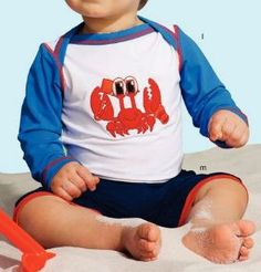 Crabby beach romper and t-shirts