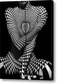 0622 Abstract Art Geometric Female Form Canvas Print / Canvas Art By Chris Maher Body Art Photography, Shadow Photography, Erotic Photography, Projector Photography, Op Art, Photographie Art Corps, Lumiere Photo, Canvas Art, Canvas Prints