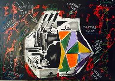 Oil & spray on canvas