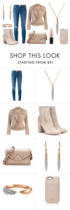 """""""Every day chic"""" by buckleylondon on Polyvore featuring Frame, Gianvito Rossi, Karl Lagerfeld, LuMee and MAC Cosmetics"""