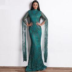 65addcd12996f Women Sexy Elegant Glitter Dress Evening Dress Gown Specifics: Sleeve  Style:Regular Silhouette: