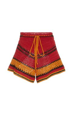 Tulum Striped Crochet Short by SPENCER VLADIMIR for Preorder on Moda Operandi