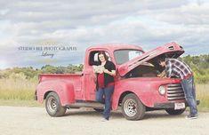 maternity photography with trucks | via vanyah barr