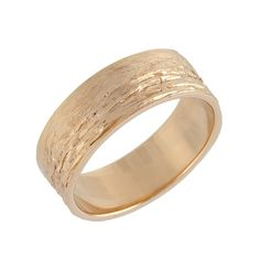 Mens Wood Grain Wide Matte Wedding Band in 14k by NoaSimonJewelry, $530.00
