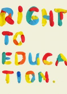 Right to education. Right To Education, Text Types, Programming For Kids, Vintage Cartoon, Learning Environments, Kids Corner, Quotations, Typography, Graphic Design