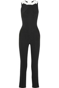 You should see the back of this Roland Mouret Tabit stretch-crepe jumpsuit. Fabulous! | NET-A-PORTER
