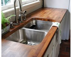 Butcher block and sink!!