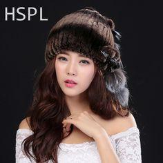 22.00$  Watch here - http://alinl2.shopchina.info/go.php?t=32744859370 - HSPL Winter Hats For Women 100% Natural Rex Rabbit Fur Winter Hats For Lady Fashion Fur Cap Warm Beanies Lady headwear  Bone  #buyininternet