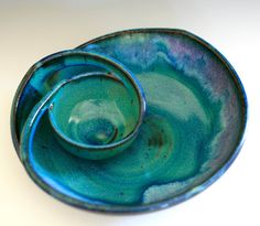 Chip and Dip handmade ceramic dish ceramics and by ocpottery, $90.00
