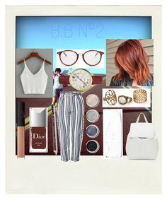"""B.B N°2"" by marlinda212 on Polyvore featuring mode, Polaroid, Topshop, CÉLINE, Christian Dior, FOSSIL, Terre Mère, NARS Cosmetics, Mansur Gavriel et adidas"