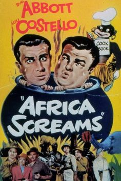 Africa Screams posters for sale online. Buy Africa Screams movie posters from Movie Poster Shop. We're your movie poster source for new releases and vintage movie posters. Great Comedies, Classic Comedies, Classic Movie Posters, Classic Movies, Old Movies, Vintage Movies, 1940s Movies, Movies 2019, Vintage Ads