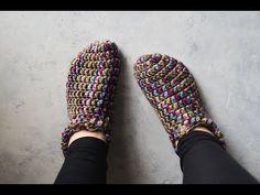 One Hour Crochet Slippers - YouTube