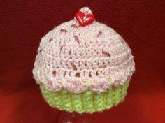 Newborn Valentine Cupcake Hat/ Photo prop by Yarnhotoffthehook, $19.00