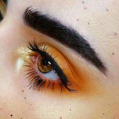 sunset eye makeup #orange
